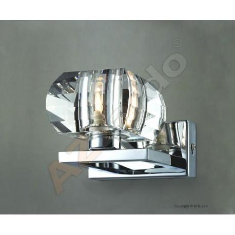 Lampa RUBIC 1 wall 1798-1W metal/chrome/ acryl Azzardo