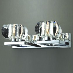 Lampa RUBIC 2 wall 1798-2W chrome metal/glass Azzardo