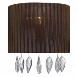 Lampa SIDNEY wall 1982-1W BN brown fabric/chrome/ Azzardo
