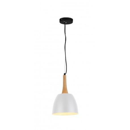 Lampa PRATO WH pendant FLPR20WH white metal/wood Azzardo