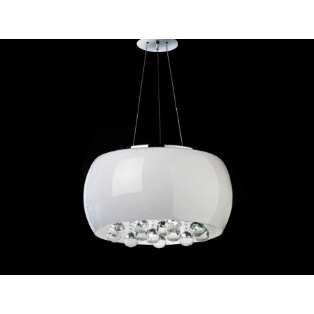 Lampa QUINCE 40 pendant LC1056-5 opal glass/ metal/chrom Azzardo
