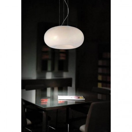 Lampa OPTIMA pendant AD 6014-5B metal/glass chrome/wh Azzardo