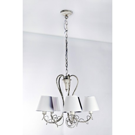 Lampa GIULIETTA 5 pendant 8021-5P gold/cream metal/fabric Azzardo