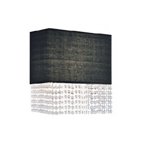 Lampa GLAMOUR WALL BK 113715 AP2 BK Black metal/cryst Azzardo
