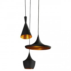 Lampa MIX BLACK/ GOLD pendant FB6901/3 BK/ GO black/gold alum Azzardo