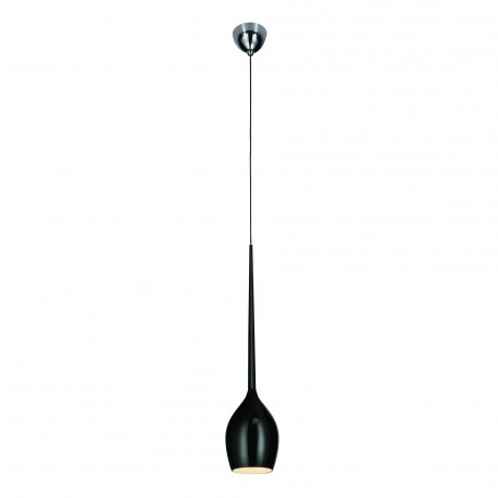 Lampa IZZA 1 pendant MD 1288-1BL shiny black metal/gl Azzardo