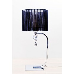 Lampa IMPRESS table 1976-1T black metal/acryl/ fabri Azzardo