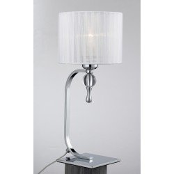 Lampa IMPRESS table 1976-1T white metal/acryl/ fabri Azzardo